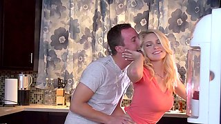 Sexy teen and her stepmother play special games with common lover