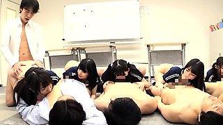 Mimi Yazawa And Classmates Fucked In Orgy At School