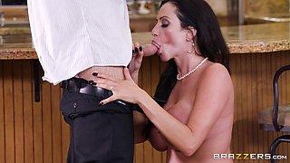 Ariella Ferrera is a nasty housewife craving to feel a big boner