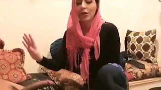 Three women in hijab are so horny this party evening