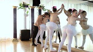Amateur school party Ballerinas