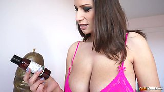 Mesmerizing owner of huge knockers Sensual Jane wanna be banged from behind