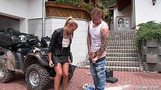 Getting shagged by the quadbike ain't a problem for Angella Christin
