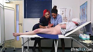 uniformed nurses get jizz