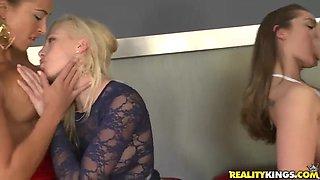 Hot lesbian party featuring Dani Daniels