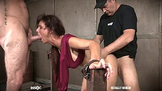 Brutal fingerfuck is what submissive Syren De Mer deserves from dominant stud