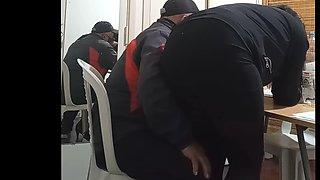 Secretary bend over