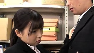 Japanese schoolgirl undresses uniform and widens