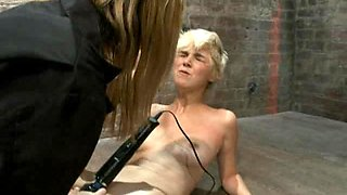 Cute Blonde Gets Tied Up and Abused By Men and Women