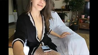 Sexy fair skin italian smoking cigarette