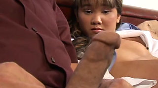 Dirty Korean schoolgirl tough bonked by her patriarch