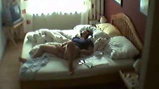 My auntie masturbating in bed during her lunch break