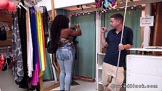 Huge ass ebony bangs in bikini shop