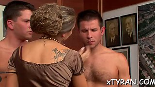Nasty mistress dominates dude