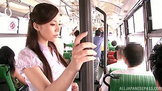 Delicious Japanese Doll Gets Groped & Fingered On The Bus