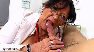 Mature Nurse Jerking Young Cock