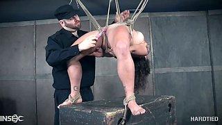 When Tess Dagger misbehaves she gets punished hard by her bondage master