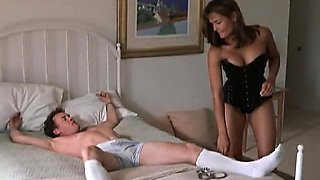 Talisa Soto showing her hot cleavage in some leather corset