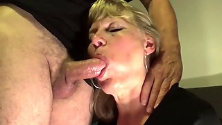 Deep throat, cum and swallow