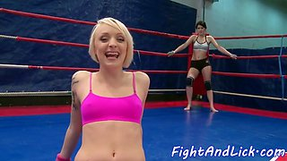 european babes love wrestling and oral