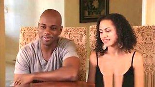 Black Swinger Couple Enjoy Orgy