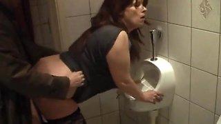 Whore fuckin kathy in my local pub toilet