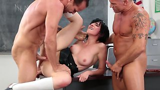 Sex in classroom with wild teachers is the best for Allora Ashlyn