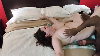 Bbw Queen of Spades gets pussy beaten up and bred