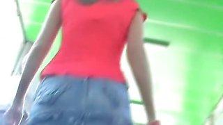 I shot upskirt of girl in high heels