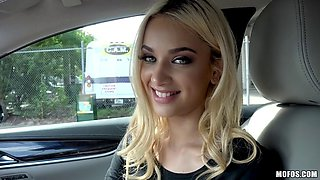 Seductive teen hitchhikes and pounded