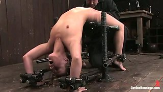 Cute Blonde Jessie Cox Gets Bent Over in Extreme Bondage Video