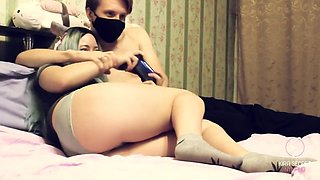 Step Sister Gamer Girl Plays among Us and Lost a Bet. her Pussy's now getting Fucked Rough
