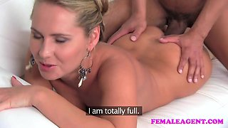 FemaleAgent Massive cock delivers huge creampie