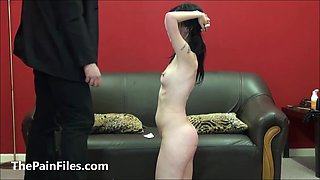 Brutal blowjob and spanking of oral sex slave Faye Corbin