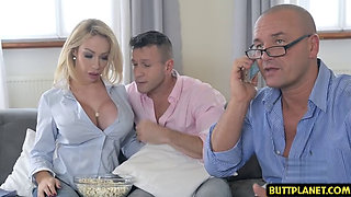 Big tits pornstar titty fuck and cum in mouth