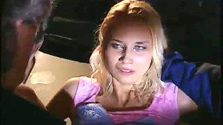 Blonde forced in a garage