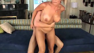 Sexy blonde milf cougar pay the debt