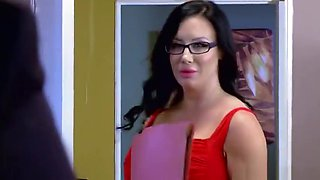 Admirable breasty sexretary Sybil Stallone featuring husband cheating XXX tape