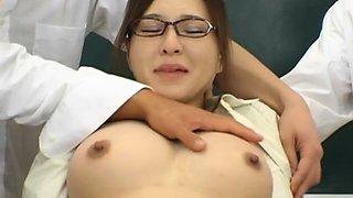 Asian teacher gets her hairy wet crack fucked ans creamed