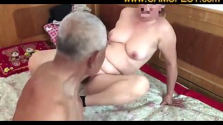 muted chinese old man fucking grandma film