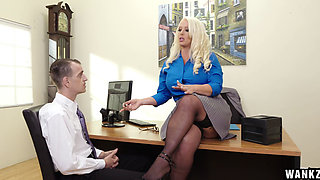 Blond MILF Alura Jenson fucked by her employee