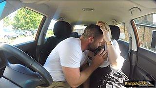 Kinky examiner Katy Jayne gets wrecked hard in the car