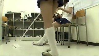 Japanese school girl ballbusting2