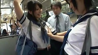 Best Japanese girl Ai Uehara in Incredible College, Bus JAV video