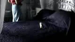 Hidden camera caught mature woman masturbating in her bedroom