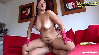 Mamacitaz  big ass redhead maid fucked by her boss