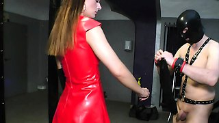double anal fisting for german bdsm slave from domina