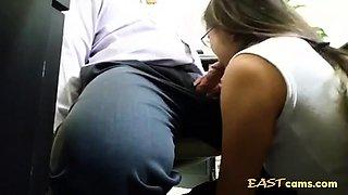 blowjob boss in office