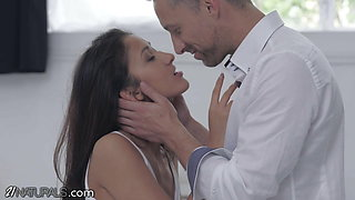 Hungarian Hottie Inspires Stud With Her Perfect Tits