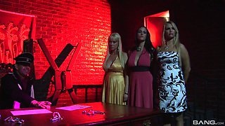 Angel Cassidy in a rough hardcore foursome with two more slutty babes